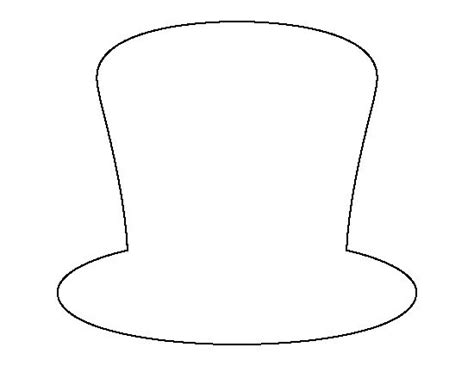 hat template printable stencils hats and hat patterns on