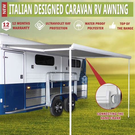 caravan roll out awnings prices hand roll out caravan rv window awning 3 5x2 5m buy