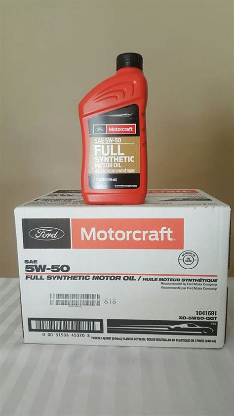 ford synthetic change ford motorcraft 5w50 synthetic engine of