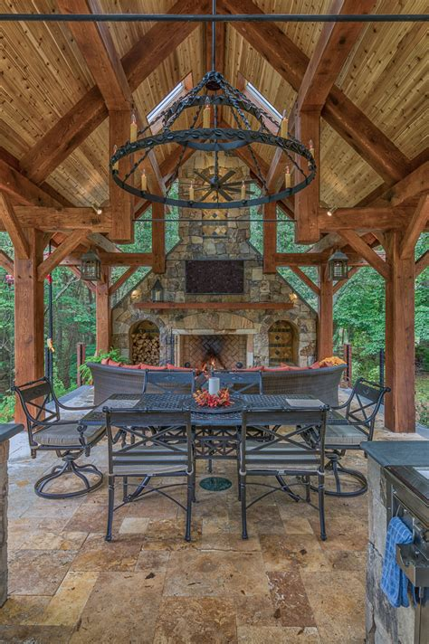 outdoor pavilions with fireplaces timber frame pavilions gazebos more