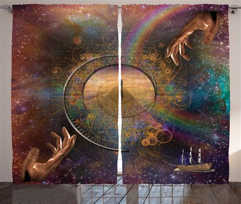 fantasy home decor outer space curtains 2 panels set eternity fantasy home decor ebay