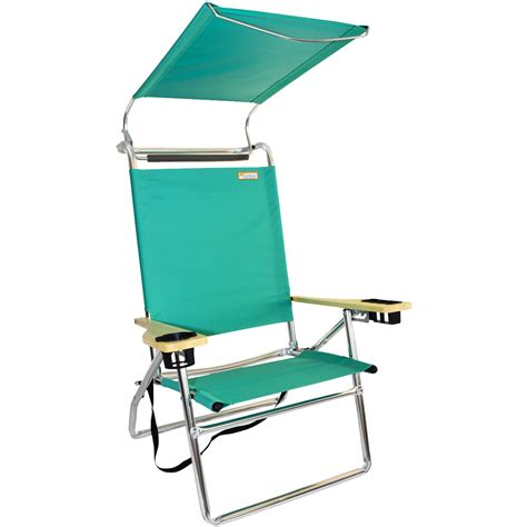 beach chair with awning canopy hi seat aluminum beach chair mint green canopy