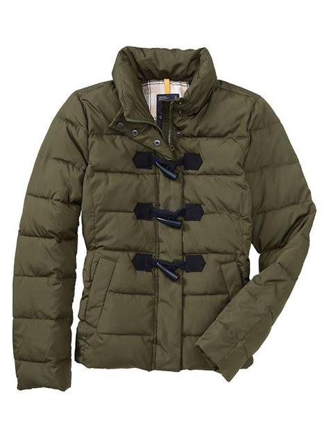 Gap Yellow Duffle Jacket gap duffle coat in green olive lyst
