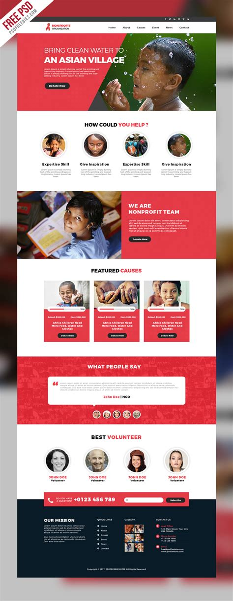 free website templates for non profit organizations free psd non profit organization website template psd on