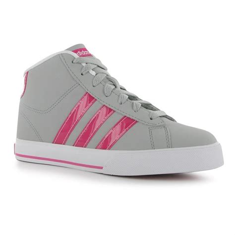 adidas neo daily mid top junior trainers casual sports shoes footwear ebay