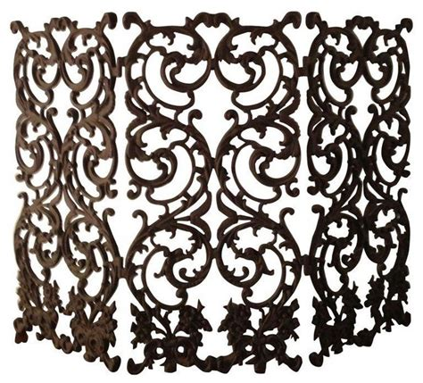 Ornate Fireplace Screens by Pre Owned Beautiful Ornate Wrought Iron Fireplace Screen
