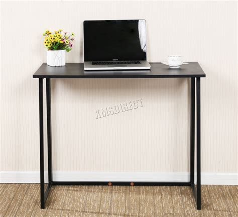 Foxhunter Foldable Computer Desk Folding Laptop Pc Table Folding Office Desk