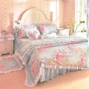 Pastel Blue Comforter Floral Duvet