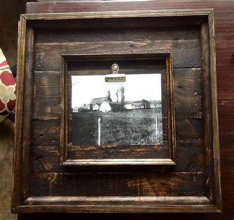 rustic barnwood picture frames   reclaimed