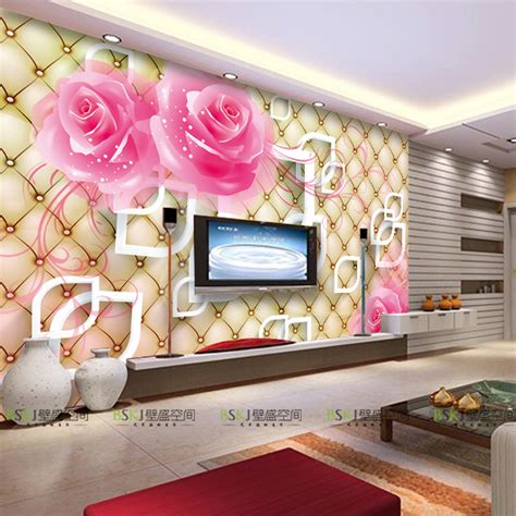 tv in bedroom marriage 3d large scale mural wallpaper stylish stereo tv background wallpaper hall bedroom