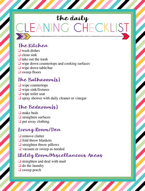 kitchen cleaning tips to do each day ad free printable daily and weekly cleaning lists free
