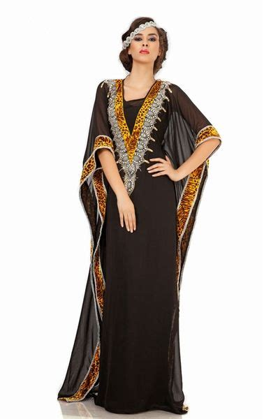 Abaya Jaquard By Al Arabian picture of black arabic kaftan mexi dress