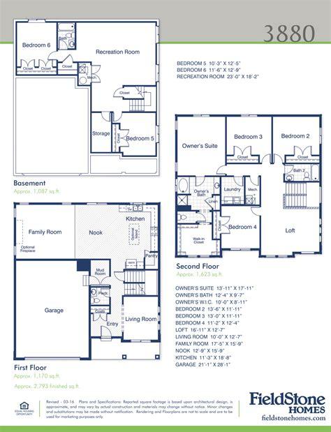 fieldstone homes utah floor plans house design plans