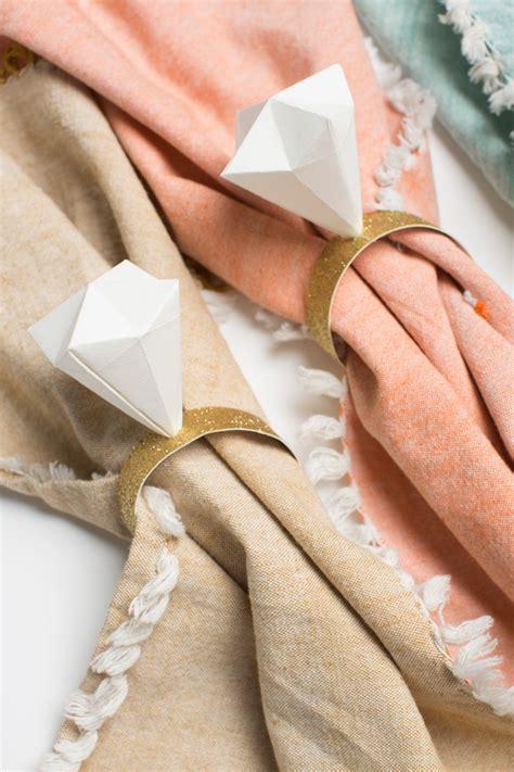 Origami Wedding Ring - diy make an origami napkin ring