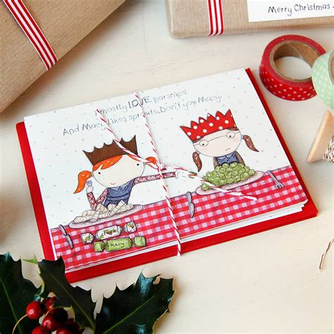 Macy S Christmas Gift Card - macy loves sprouts christmas card by clara and macy notonthehighstreet com