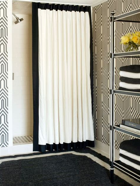 recessed shower curtain track curtains on recessed track bathrooms pinterest