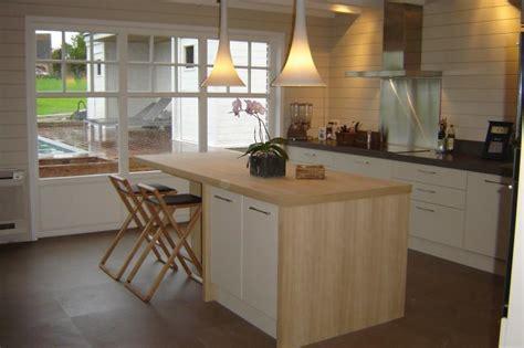 Idée Séparation Cuisine Salon by Cuisine Blanche Et Bois