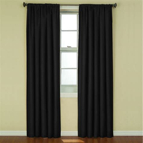 black eclipse curtains beautyrest national sleep foundation room darkening black