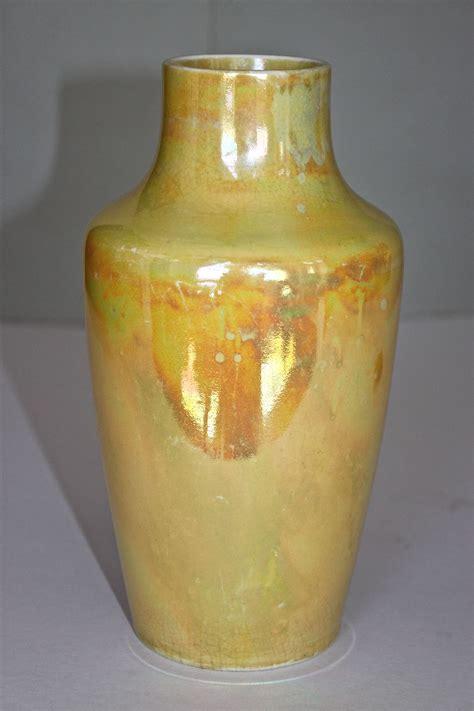 Ruskin Vases ruskin yellow lustreware vase arts crafts c 1915 from decosurfn rl on ruby