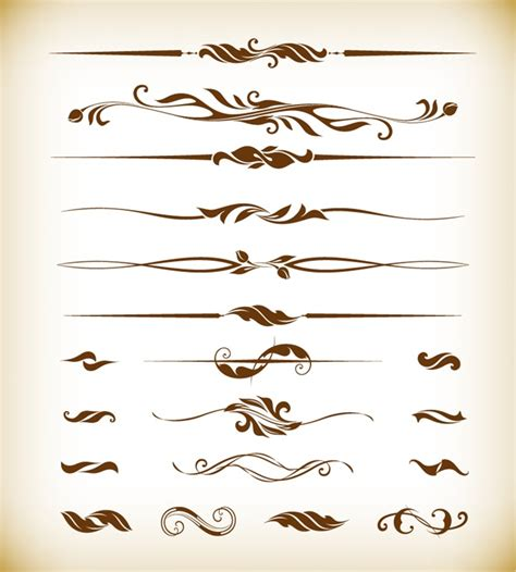 Vector Decorative Design Elements Page Decor | vector illustration of page decor design elements free