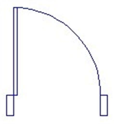 door swing symbol graphic 3d modelling now creating a door