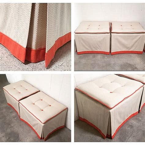 Design Your Own Ottoman Custom Skirted Ottomans Create Your Own Pair In Any Fabric