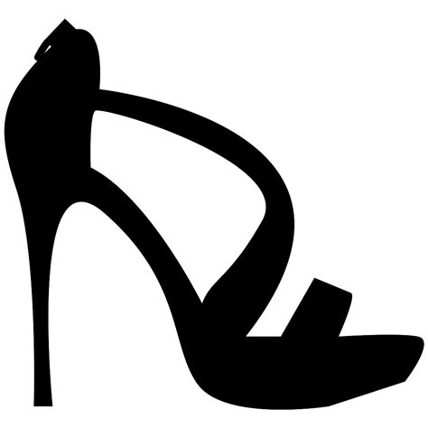 Heels Boots Bow Light Hitam high heel svg png icon free 59580