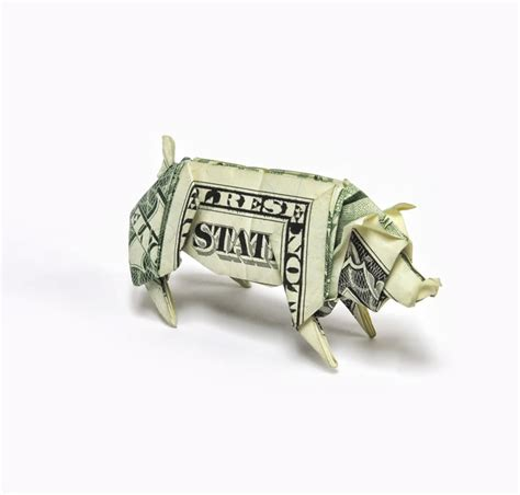 Dollar Origami Pig - amazing origami using only dollar bills 171 twistedsifter