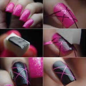 Fingernägel Design Vorlagen Einfach Selber Machen D 233 Co Ongles Avec Bande De Striping En 30 Inspirations