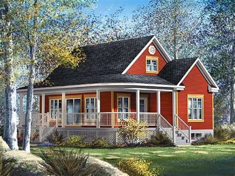 cottage style house plans with pretty garden