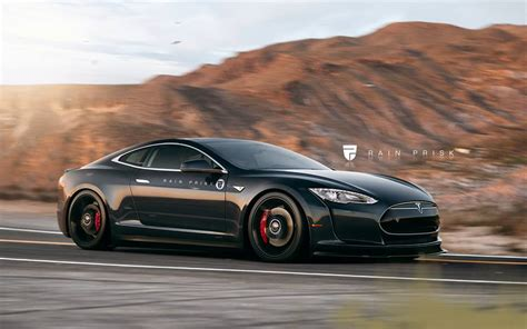 Tesla Two Door Tesla Model S Coupe Widebody Rendered As The Halo Car
