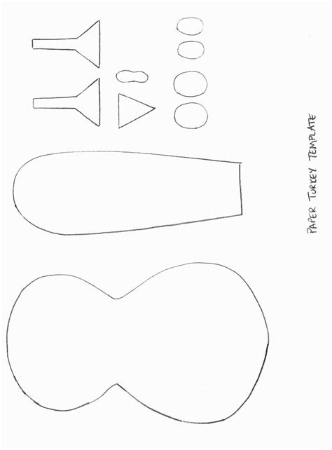 free turkey template cut out 4 best images of turkey templates free printables