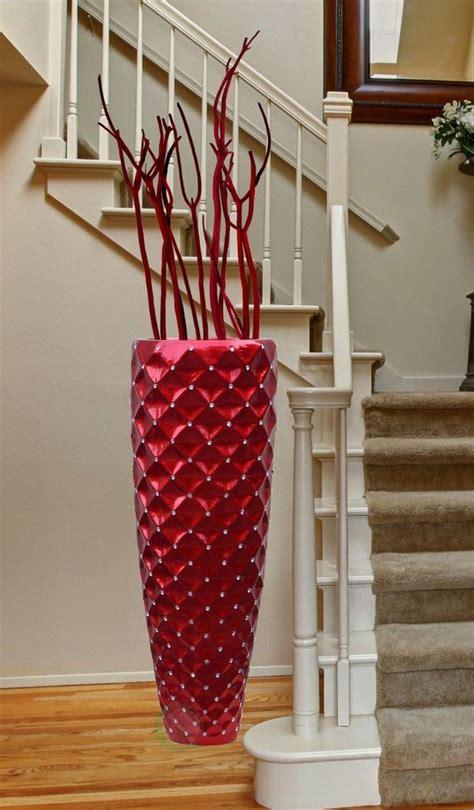 modern red tall floor vase   tall floor vases