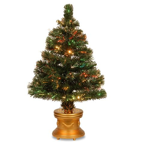 small lit base christmas tree small fiber optic tree easy lighted decor glowing