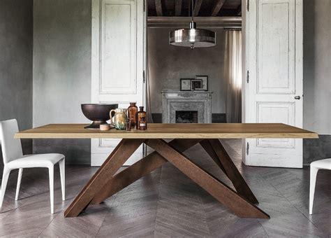 big oak dining table bonaldo big dining table in oak bonaldo furniture in