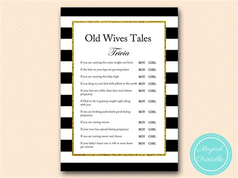 Tales Trivia Baby Shower by Tales Baby Shower Printable Baby Shower