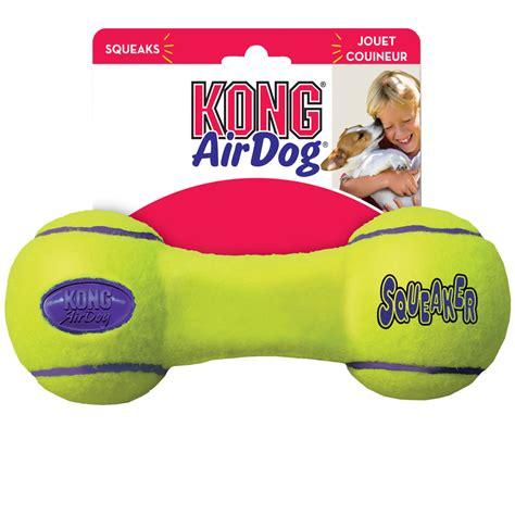 air kong squeaker dumbbell medium