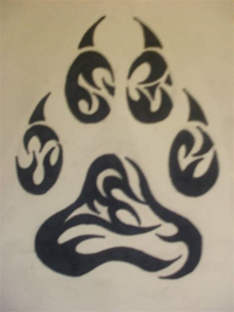 tribal footprint tattoos wolf paw tattoos on paw tattoos wolf tattoos