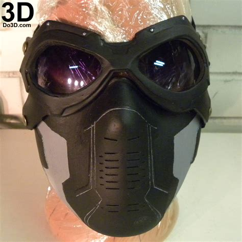 Masker Goggle 3d printable model winter soldier bucky goggles lens
