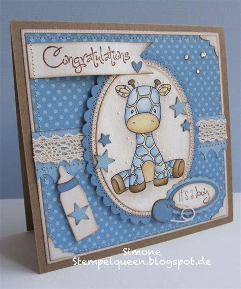 Handmade Baby Card Ideas - stempelqueen de baby baby boy