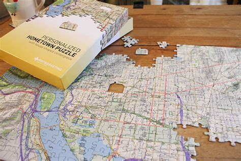 canadian hometown map puzzle hometown puzzle map jigsaw puzzle custom made for your