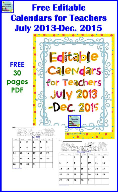 free editable calendar templates 2015 6 best images of 2015 printable calendars for teachers