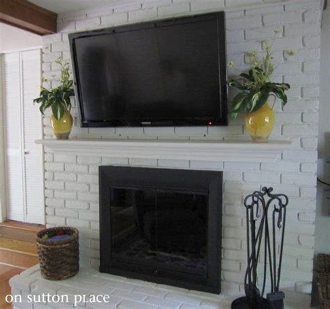 mount tv brick fireplace 1000 images about brick on home theaters extension and tvs