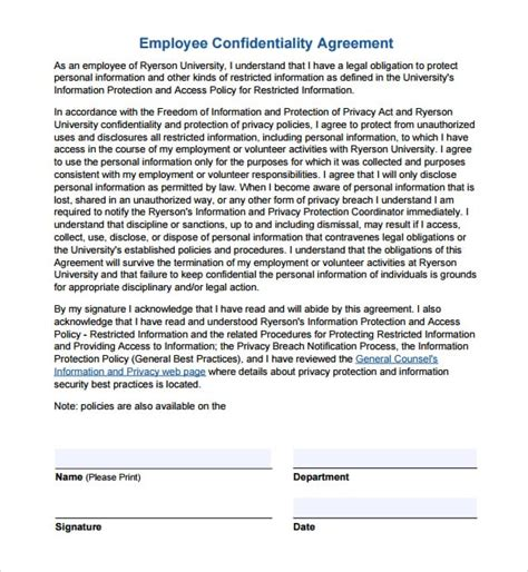 secrecy agreement template 7 confidentiality agreement templates word excel pdf