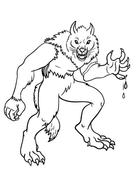 goosebumps werewolf coloring pictures coloring pages