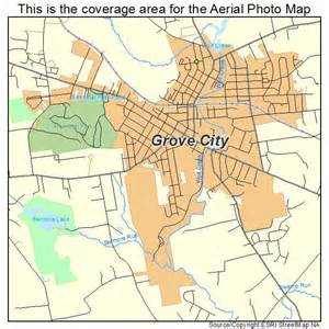 grove map aerial photography map of grove city pa pennsylvania