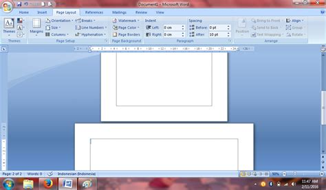buat halaman microsoft word pujud cara buat halaman vertikal horizontal dalam dalam