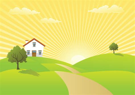 Country House Design sunrise vector free free vector download 192 free vector