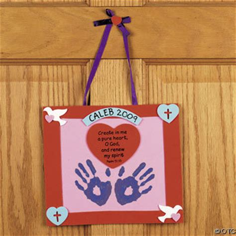 Handprint Psalm 51:10 Valentine Keepsake Craft Kit For Kids