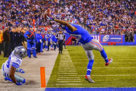 the science of odell beckham jrs incredible onehanded td catch 2014 giants odell beckham jr makes incredible one hand catch